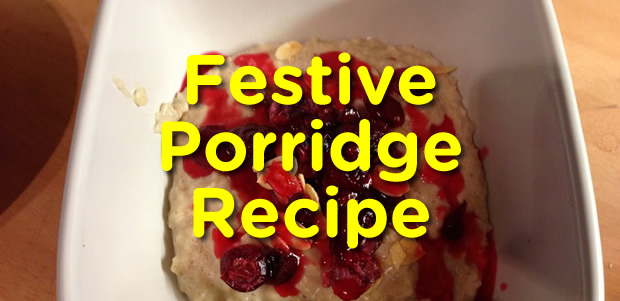 Festive Cranberry Porridge Recipe