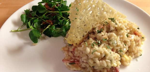 Bacon & Apple Risotto by 'Yorkshire's Best Young Chef'